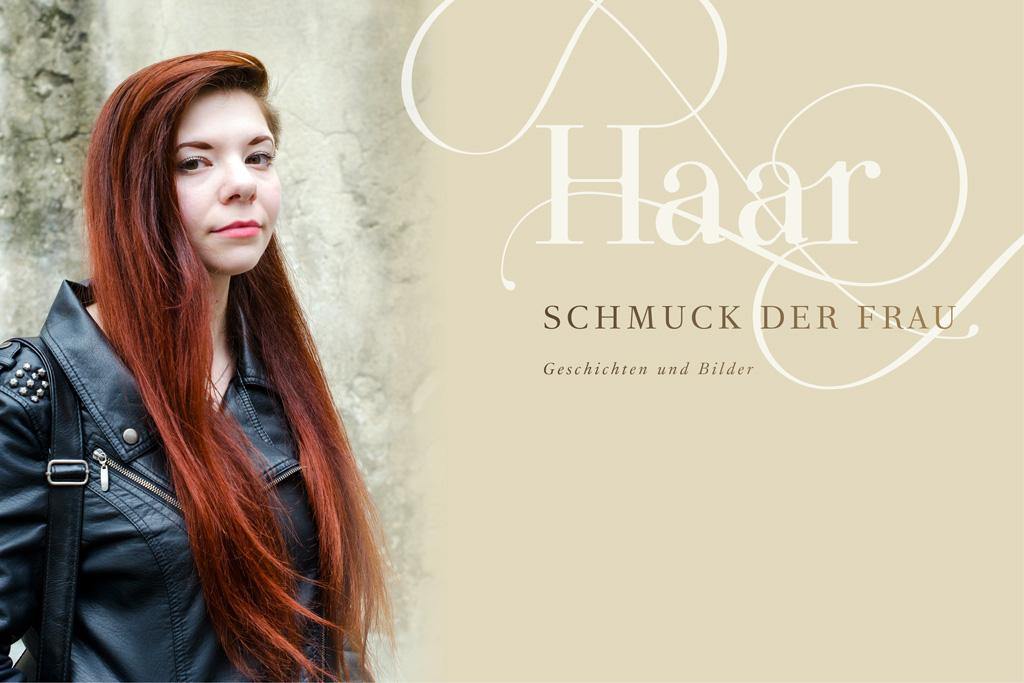 Angelique mit langen roten Haaren.